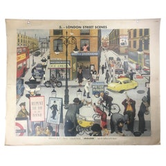 Double-Sided Poster Masson & Cie, London Street Scenes, Circus Goes to America