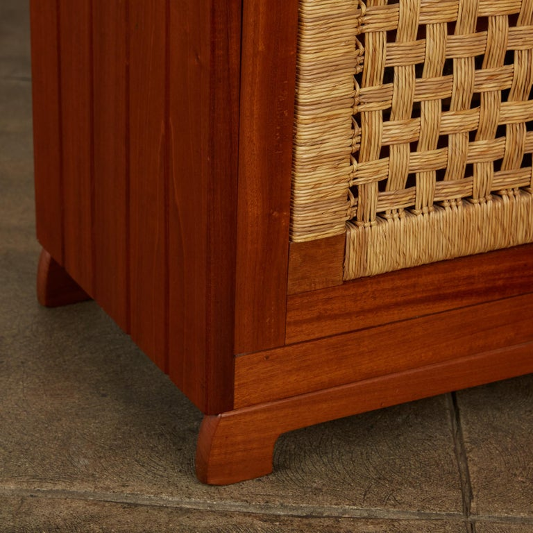 Double Sided Rattan Credenza by Michael van Beuren for Domus Mexico 5