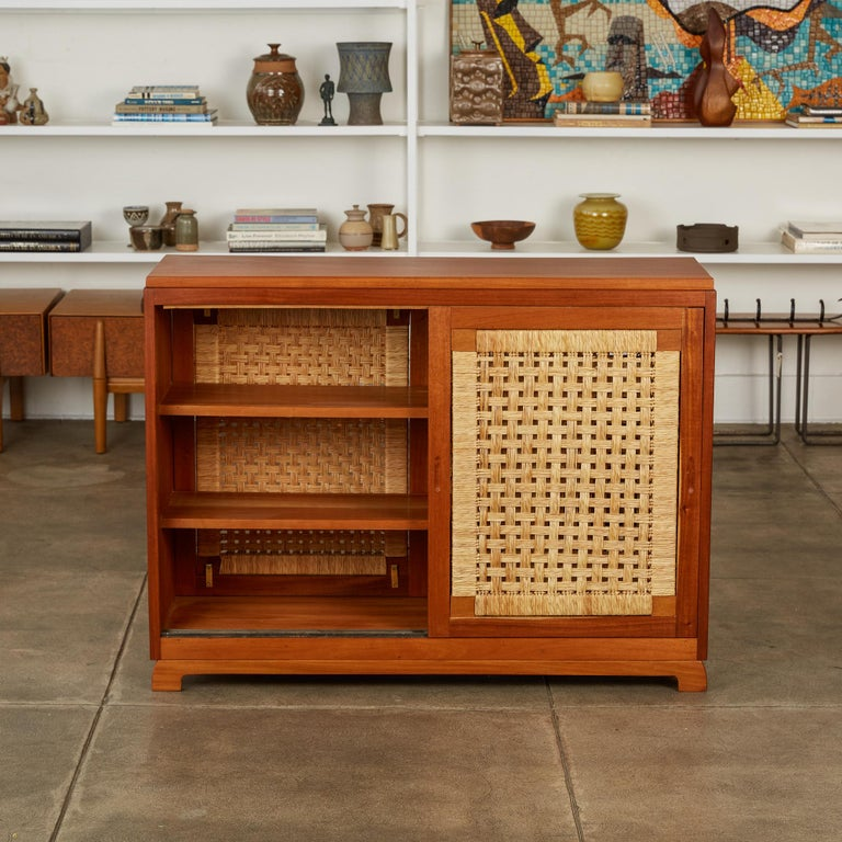 Mexican Double Sided Rattan Credenza by Michael van Beuren for Domus Mexico