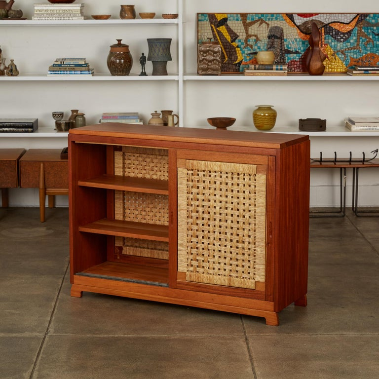 Woven Double Sided Rattan Credenza by Michael van Beuren for Domus Mexico