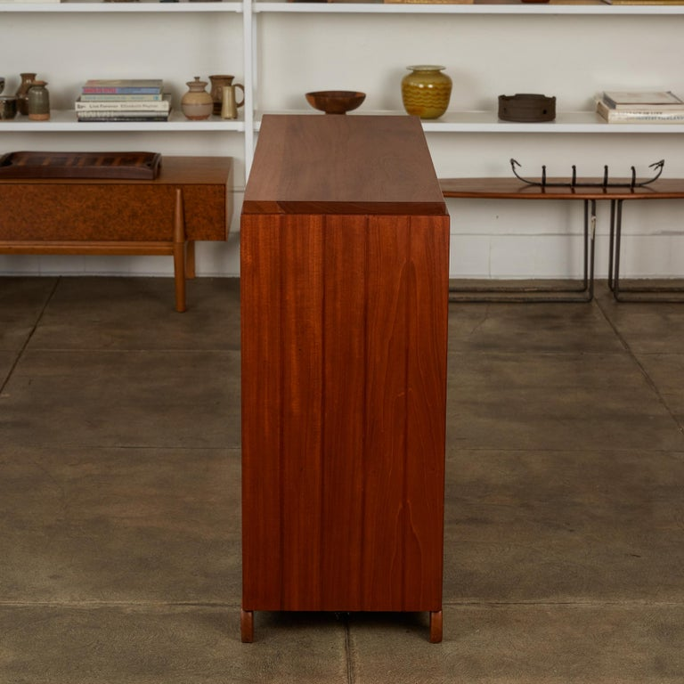 Mahogany Double Sided Rattan Credenza by Michael van Beuren for Domus Mexico