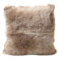 Double Sided Toscana Shearing Pillow in Taupe Color