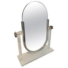 Double Sided Vanity Mirror on Acrylic Stand