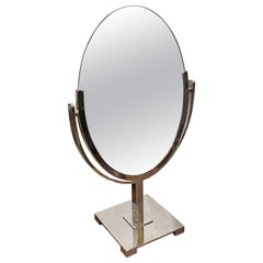 Double Sided Vanity Table Mirror by Charles Hollis Jones in Chrome