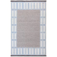Double Sided Vintage Scandinavian Kilim Rug. Size: 6 ft 4 in x 9 ft 7 in