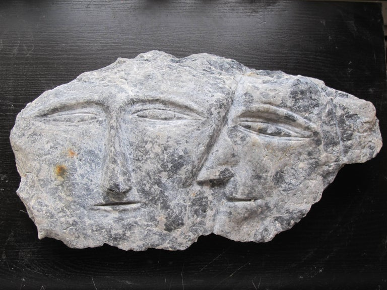 Double Stone Head by Ted Ludwiczak In Excellent Condition For Sale In New York, NY