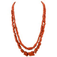 Coral Multi-Strand Necklaces