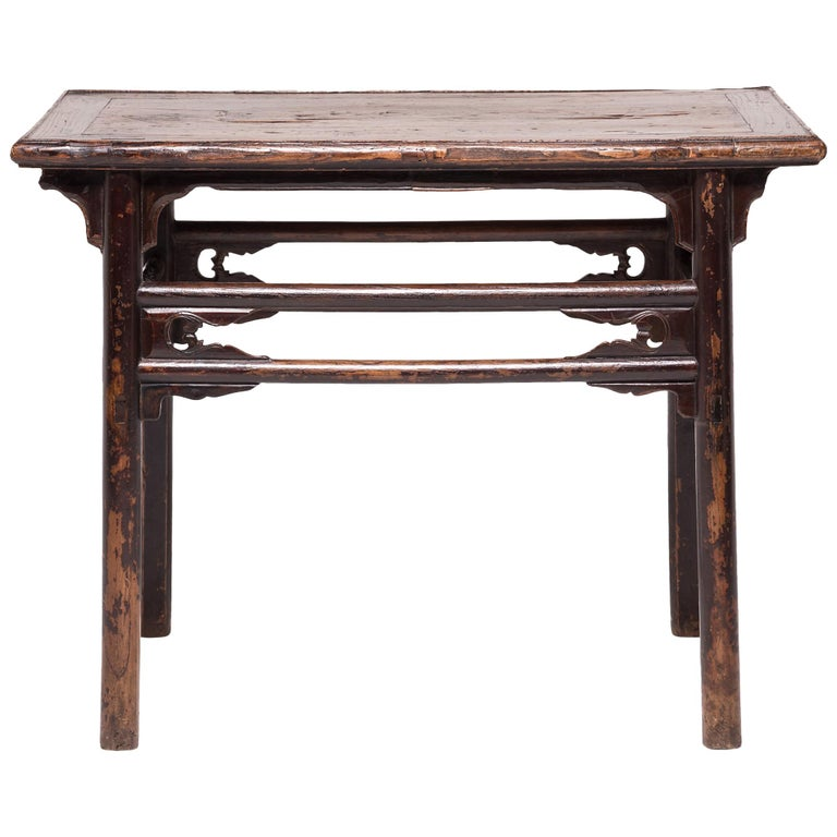 double stretcher console table for sale at 1stdibs. Black Bedroom Furniture Sets. Home Design Ideas