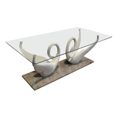 Double Swan Coffee Table by Maison Jansen, circa 1960