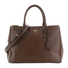 Double Zip Lux Tote Saffiano Leather Medium