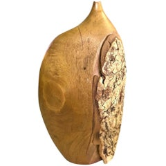 Doug Ayers Signed Organic Wood Turned Weed Vase