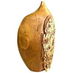 Doug Ayers Signed Organic Wood Turned Weed Vase