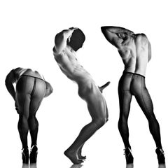 Sex 3 - Erotic Male Photo, Fishnet Stockings and High Heals, Framed