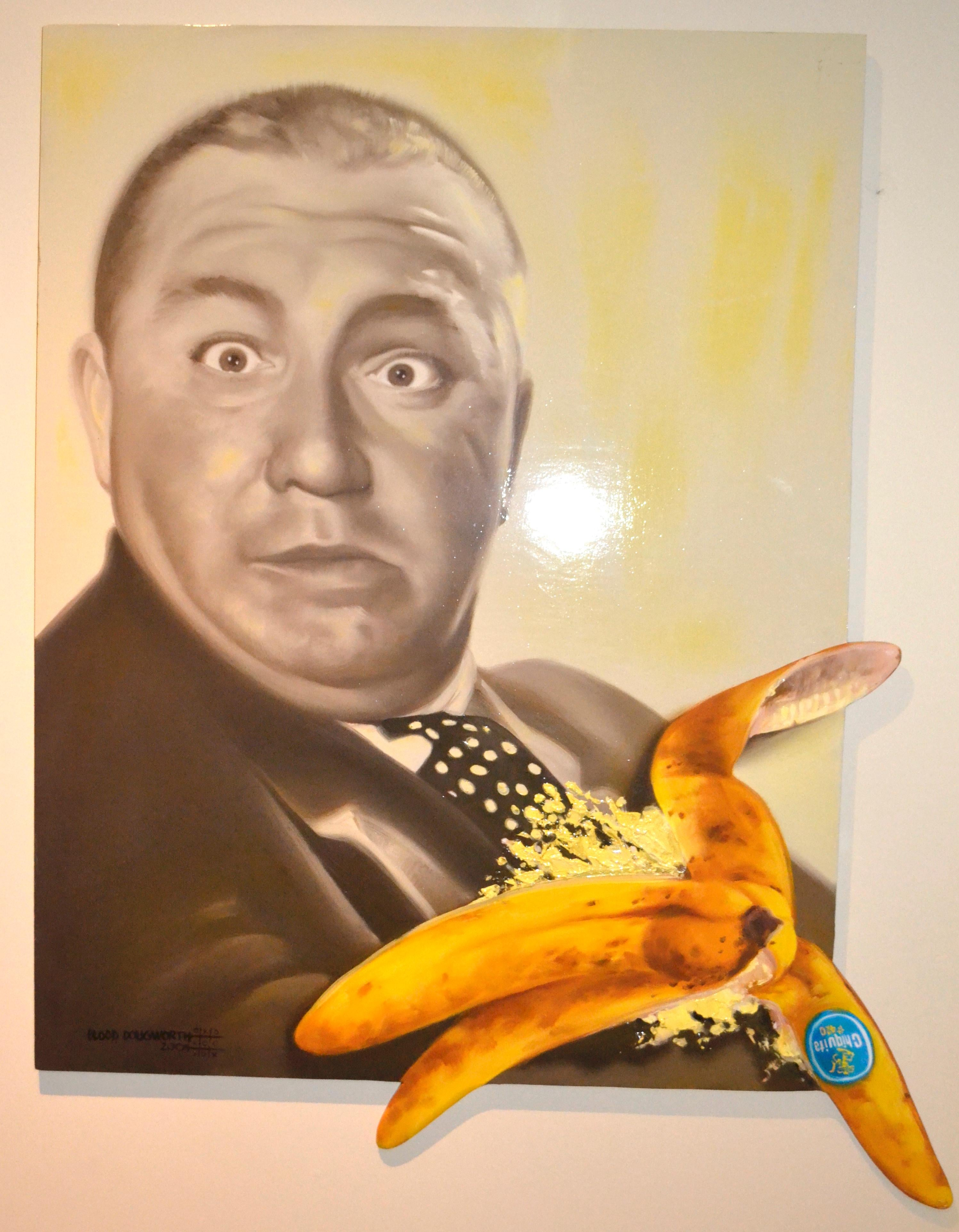 Curly From the Three Stooges® -- Original Oil Painting on Wood
