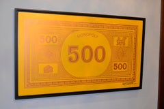 Monopoly 500 -- Giant Painting of Currency From Famous Board Game -- Licensed