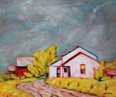 After the Rain, Tennessee Tobacco Farm, Oil Painting