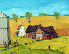 White Farmhouse, Berks County Pennsylvania, Oil Painting
