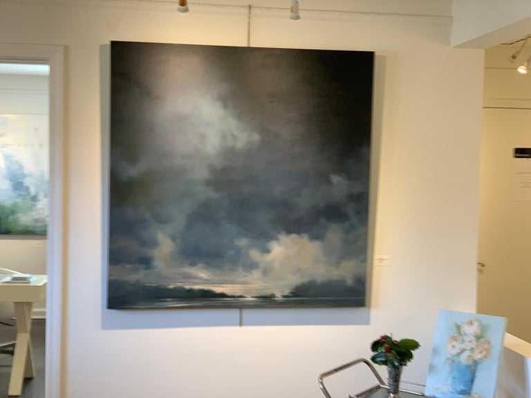 As if the Fates Had Conspired Against Her Doug Foltz, Contemporary Landscape - Black Landscape Painting by Doug Foltz