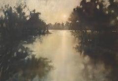 Falling Into Place by Doug Foltz, Large Contemporary Horizontal Landscape