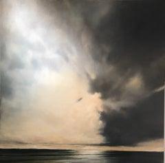 Innocence Refuses Fear by Doug Foltz, Large Oil on Canvas Seascape Painting