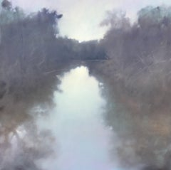 Second Impressions-Southern Waterway Series #1, Large Square Landscape Painting