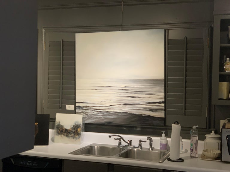 Still Too by Doug Foltz, Large Square Contemporary Seascape For Sale 1