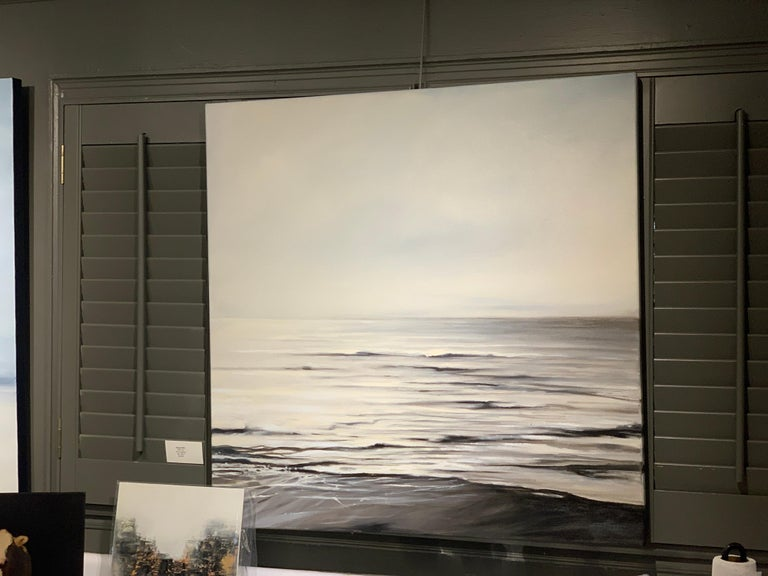 Still Too by Doug Foltz, Large Square Contemporary Seascape For Sale 2