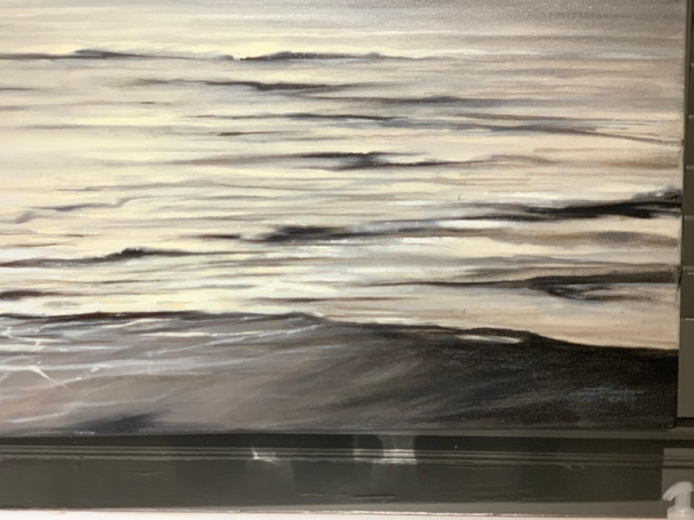 Still Too by Doug Foltz, Large Square Contemporary Seascape For Sale 3