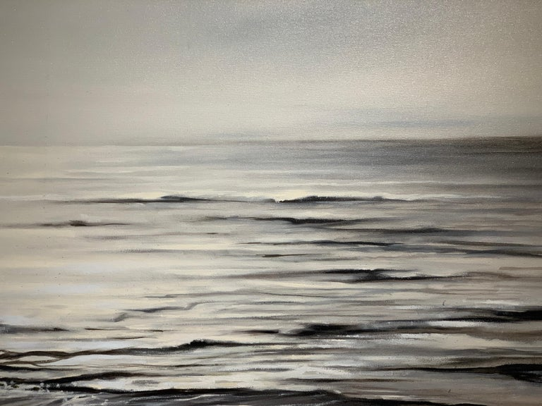 Still Too by Doug Foltz, Large Square Contemporary Seascape For Sale 4