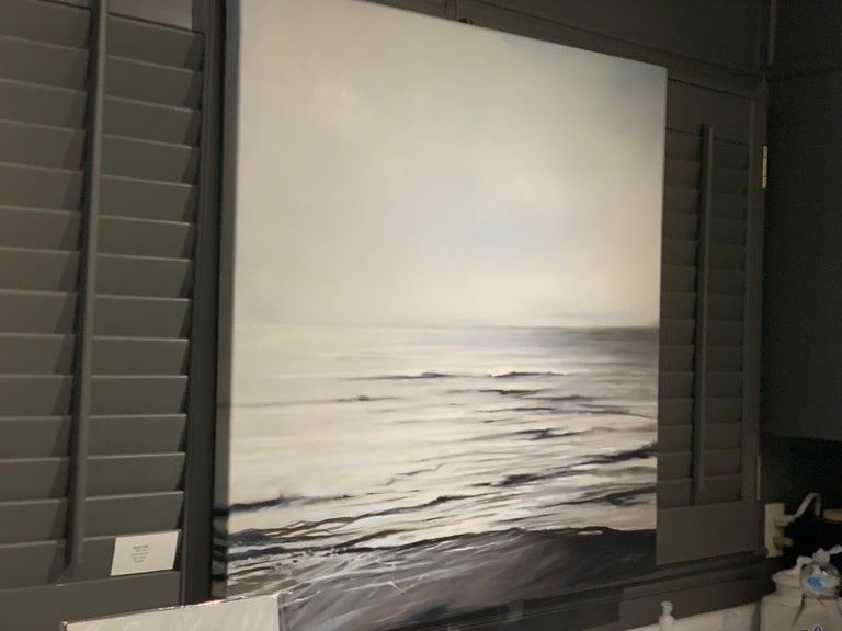 Still Too by Doug Foltz, Large Square Contemporary Seascape For Sale 5