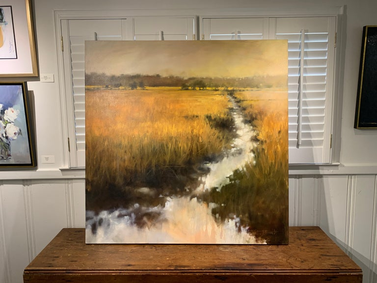 The Rhythm of Your Breathing by Doug Foltz, Large Square Contemporary Landscape For Sale 2