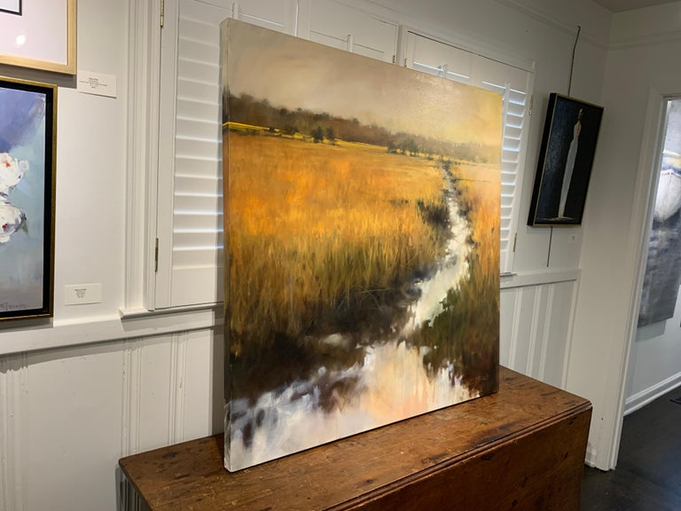 The Rhythm of Your Breathing by Doug Foltz, Large Square Contemporary Landscape For Sale 7