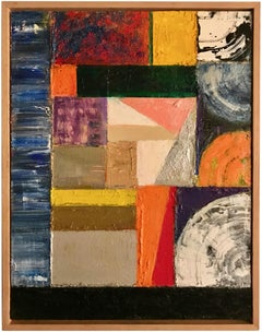 """""""Ingrid's Travelogue""""  Abstract Oil Painting"""