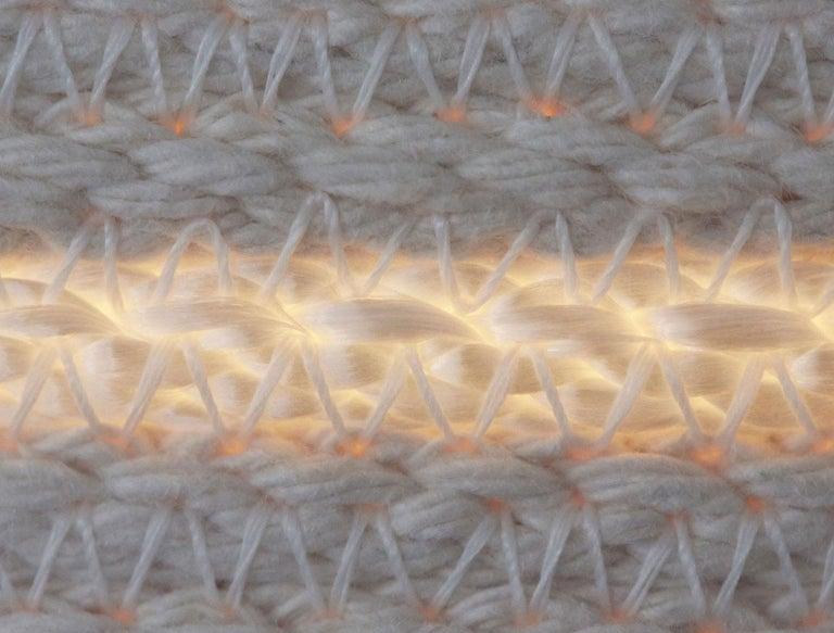 Doug Johnston White Rope Pendant Light