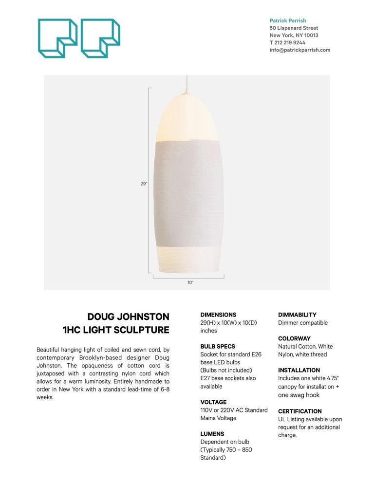 Contemporary Doug Johnston White Rope Pendant Light
