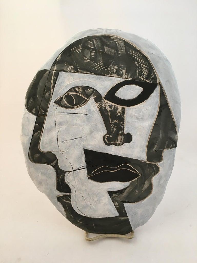 Other Doug Rochelle La Mano Pottery Cubist Mask For Sale