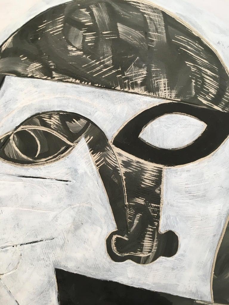 Contemporary Doug Rochelle La Mano Pottery Cubist Mask For Sale