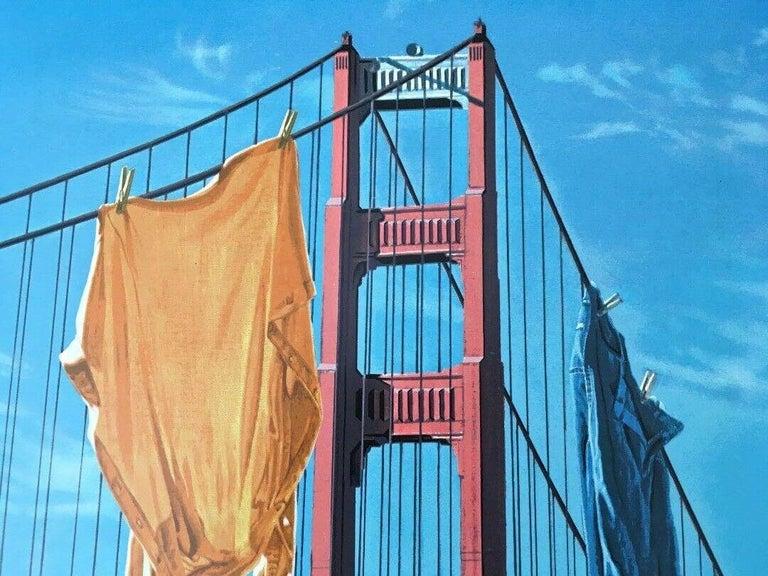 Wash & Wear, Limited Edition Silkscreen, Doug Webb - LARGE - Blue Landscape Print by Doug Webb