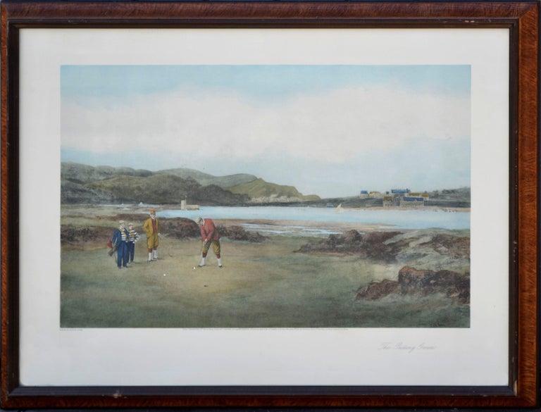 "Douglas Adams Figurative Print - ""The Putting Green"" - Figurative Landscape"