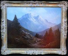 Cairngorm Mountains Scotland - British sixties art landscape oil painting