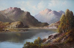 Loch Alsh - British art oil painting Scottish mountainous landscape NW Scotland