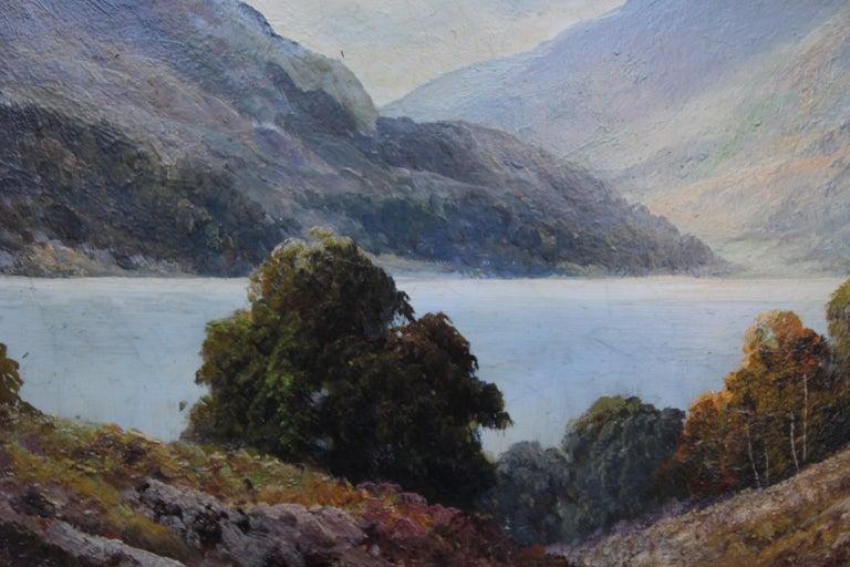 Loch Lubenig - British sixties art oil painting Scottish loch highlands Scotland For Sale 1
