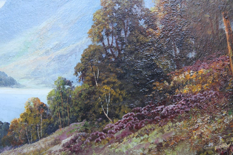 Loch Lubenig - British sixties art oil painting Scottish loch highlands Scotland For Sale 2