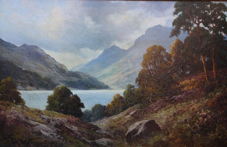 Loch Lubenig - British sixties art oil painting Scottish loch highlands Scotland For Sale 4