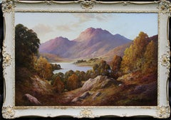 Loch Nevis Scotland - British 60s art landscape oil painting Scottish Highlands