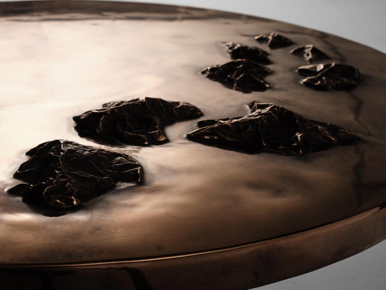 Douglas Fanning, Archipelago, Bronze and Steel Coffee Table, US, 2020 In Excellent Condition For Sale In New York, NY