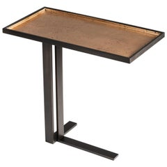 Douglas Fanning, Contemporary Bronze and Steel Drinks Table, United States, 2020