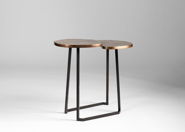 American Douglas Fanning, Set of Conjoining Bronze Cocktail Tables, United States, 2020