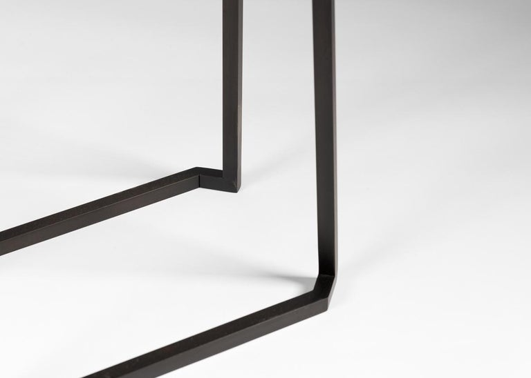 Blackened Douglas Fanning, Set of Conjoining Bronze Cocktail Tables, United States, 2020