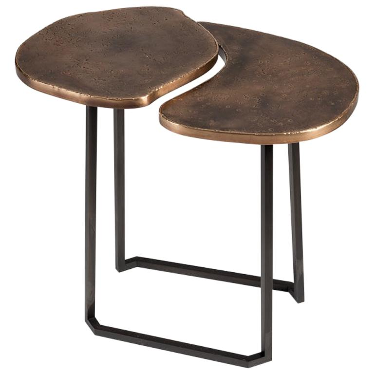 Douglas Fanning, Set of Conjoining Bronze Cocktail Tables, United States, 2020
